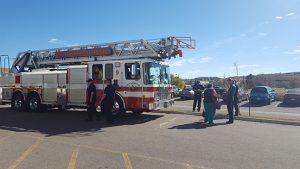 Fire truck visit at Possibilities