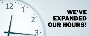 We've expanded our hours!