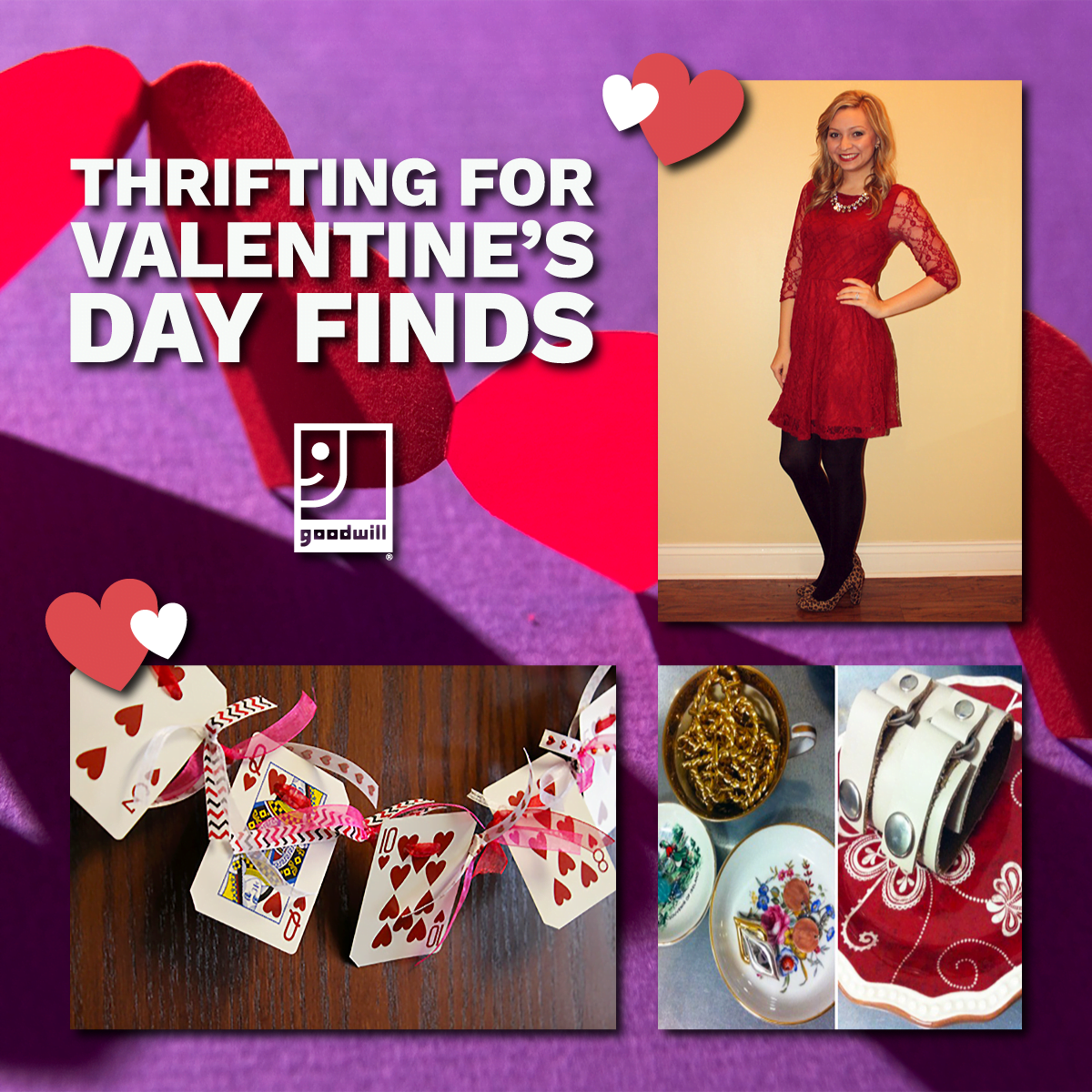 thrifting for valentine's day finds blog